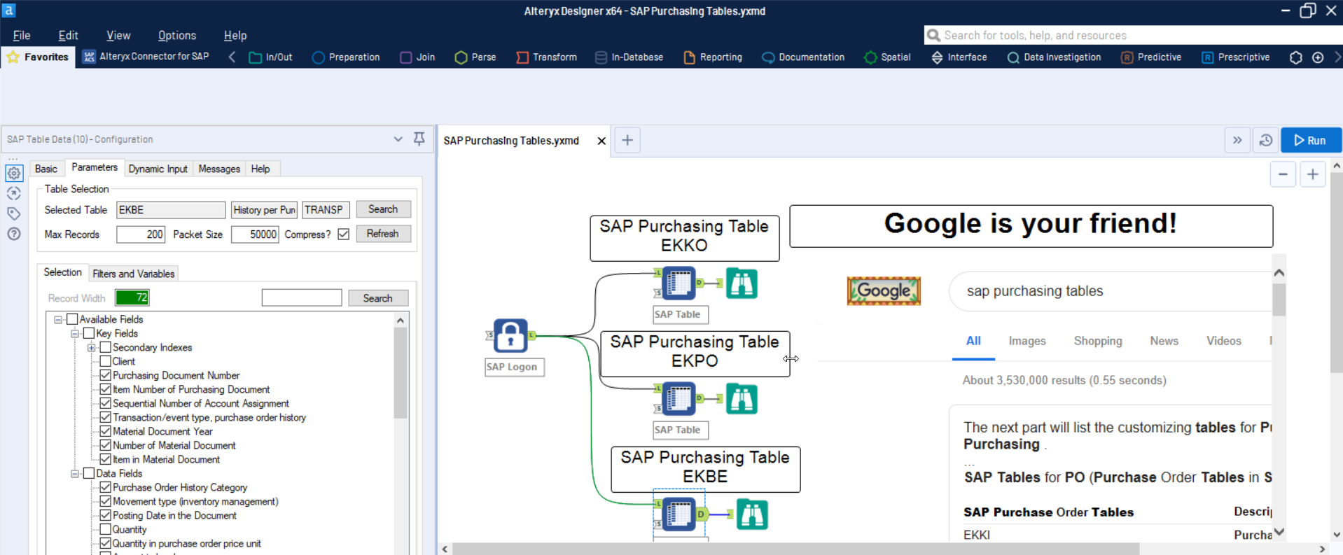 The most important SAP Purchasing tables for Alteryx users - DVW